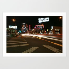 Sunset Blvd LA Art Print