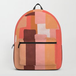 Line In Coral #society6 #abstractart Backpack