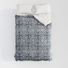 Desert Flowers . Classic Blue Comforters