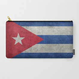 Cuban national flag- vintage retro version Carry-All Pouch
