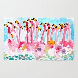 Welcome to Miami - Flamingos Illustration Rug
