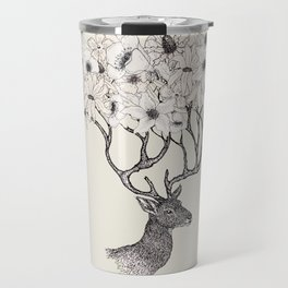 Antler Blooms Travel Mug
