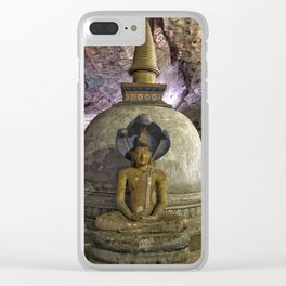 Temple within a cave Clear iPhone Case