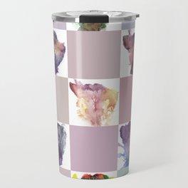 Verronica Kirei's Vulva Portrait Quilt Travel Mug