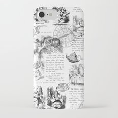 Alice in Wonderland - Pages Slim Case iPhone 7