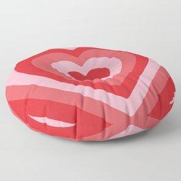 Hypnotic Hearts Floor Pillow
