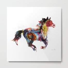 Horse (Running Happiness) Metal Print