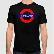 Timelord Black Mens Fitted Tee MEDIUM