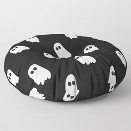 Black and White Ghosts Floor Pillow