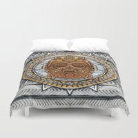 c3po Duvet Covers featuring Aztec c3po Droid iPhone 4 4s 5 5c 6, pillow case, mugs and tshirt by Greenlight8