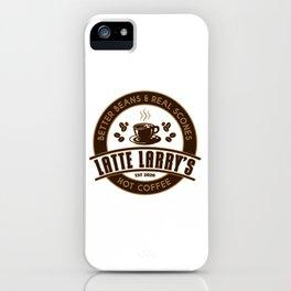 Latte Larry's iPhone Case