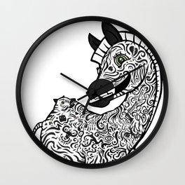 Twisted Zebra Wall Clock