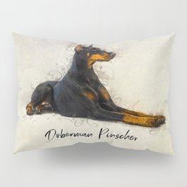 Doberman Pinscher Pillow Sham