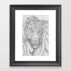 large tiger Framed Art Print