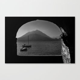 Window to the lake Canvas Print