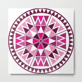 circle with triangles Metal Print