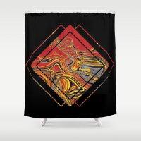 friday Shower Curtains featuring decorative friday by MehrFarbeimLeben