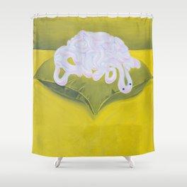 Friend on a Pillow Shower Curtain
