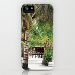 Bungalows on Palm Beach iPhone Case