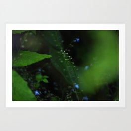 Green meets blue Art Print