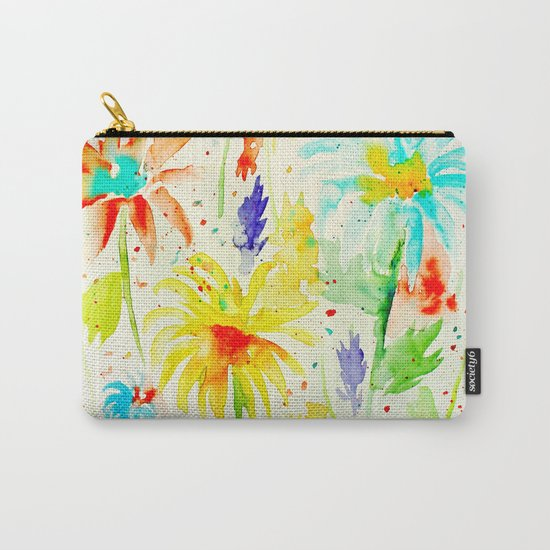 Abstract Flowers 01 Carry-All Pouch