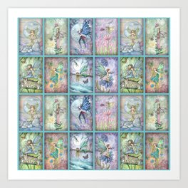 Many Fairies Molly Harrison Fantasy Art Art Print