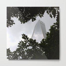 Freedom Tower through trees Metal Print