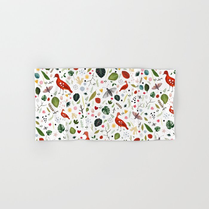 red bird pattern Hand & Bath Towel