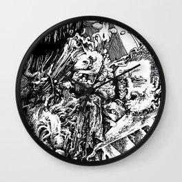 leer, lopped, longlegged Wall Clock
