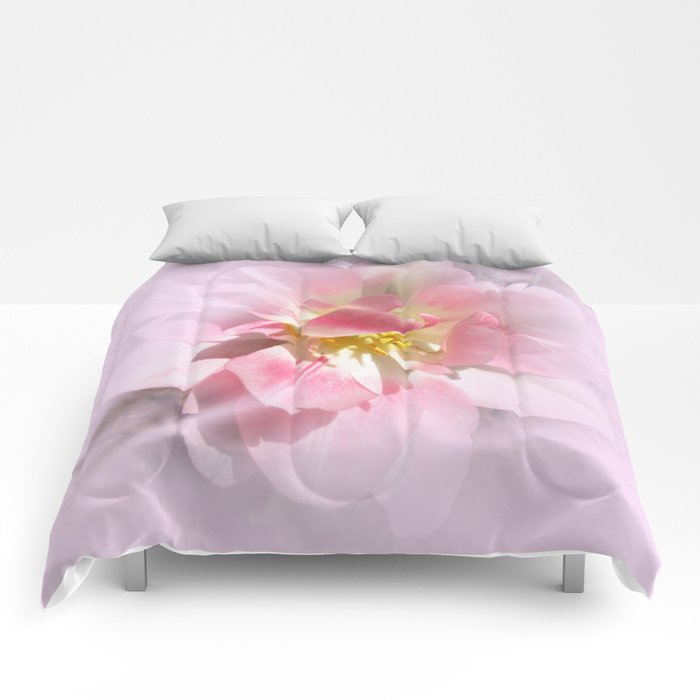 Fancy Pink Tulip Abstract Comforters