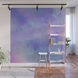 Watercolour Galaxy - Purple Speckled Sky Wall Mural