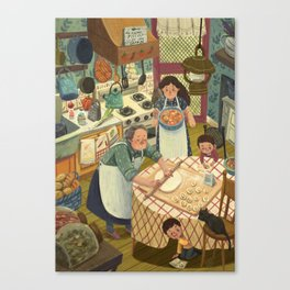 A Tavola Canvas Print