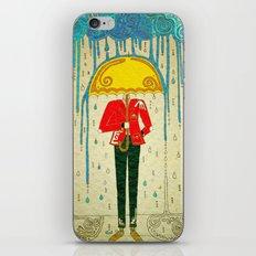 Yellow Umbrella iPhone & iPod Skin