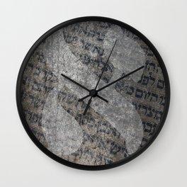 Hebrew Letter Aleph Torah Scroll Art Wall Clock