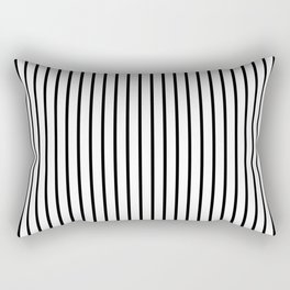 Large Black Pinstripe On White Rectangular Pillow