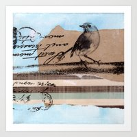 birdy Art Prints featuring Birdy by zAcheR-fineT
