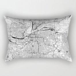 Kansas City White Map Rectangular Pillow