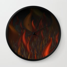We Are All Burning Wall Clock