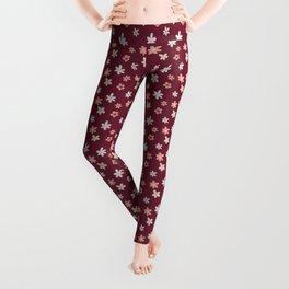Red Blossom Leggings