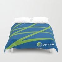 tote bag Duvet Covers featuring optym bag by Pauline Forgeard-Grignon