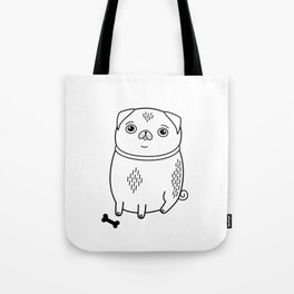 pug dog owner gift cute puppy Tote Bag
