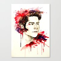 stiles Canvas Prints featuring Stiles Stilinski  by Sterekism