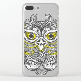 Owl in colors Clear iPhone Case