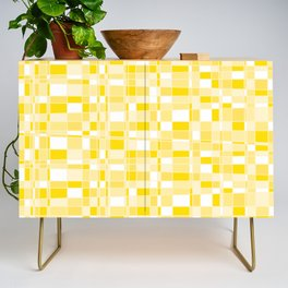 Mod Gingham - Yellow Credenza