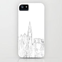 Galway, Ireland Skyline B&W - Thin Line iPhone Case