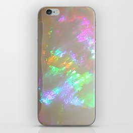 Quartz Opal iridescent holographic faux druse agate crystal gem gemstone geode mineral stone photo iPhone Skin
