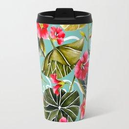 Flowering garden nasturtiums 02 Travel Mug