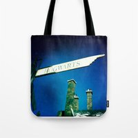 hogwarts Tote Bags featuring Hogwarts by courtneeeee