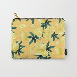 Lemon Twist Vibes #3 #tropical #fruit #decor #art #society6 Carry-All Pouch