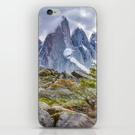 Snowy Mountains at Laguna Torre El Chalten Argentina iPhone Skin